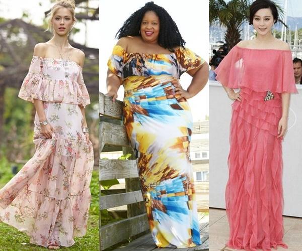 off-shoulder-wedding-guest-dress-outfit-ideas