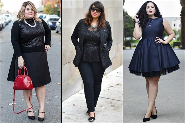 Plus Size All Black Fashion Look