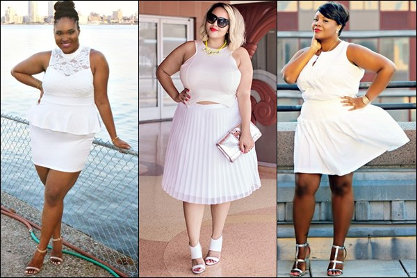 Plus Size All White Fashion Look
