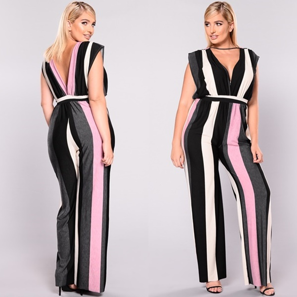 Neoclassical Stripe Jumpsuit