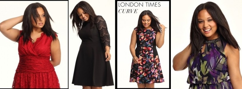 Plus Size Fall Winter Wedding Guest Dresses by London Times