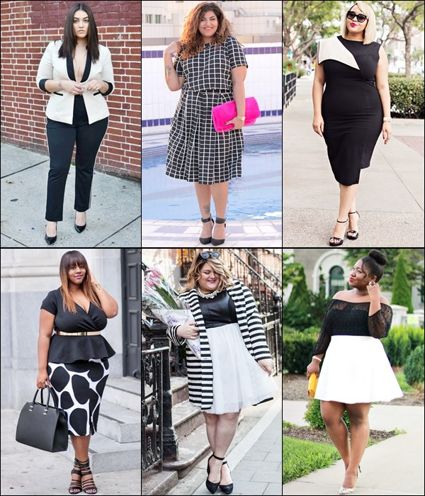 Plus Size  Fashion Black and White