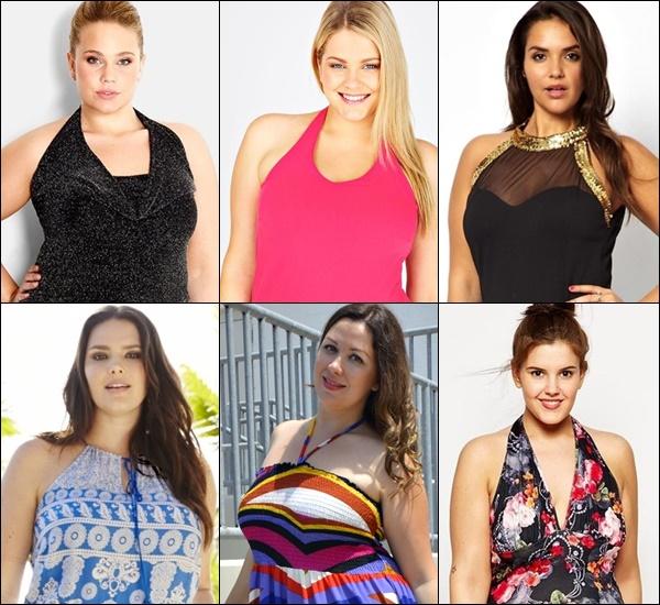 Plus Size Halterneck Fashion Tops