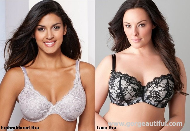 Plus Size Lace and Embroidered Bras