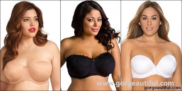 Plus Size Strapless Bras