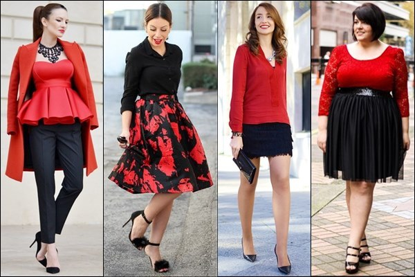 Red and Black Outfits for Valentine Day