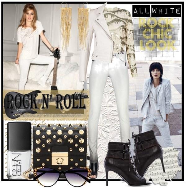 Rocky Chic All White Fashion