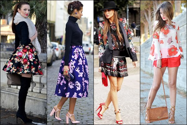 Romantic Look with Floral Print