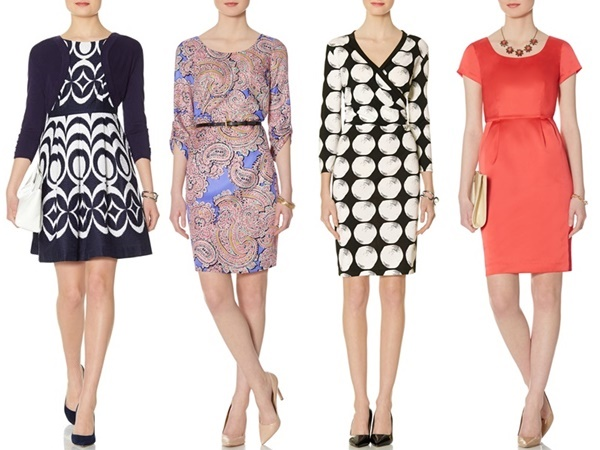 The Limited : Patterned Fit & Flare Dress