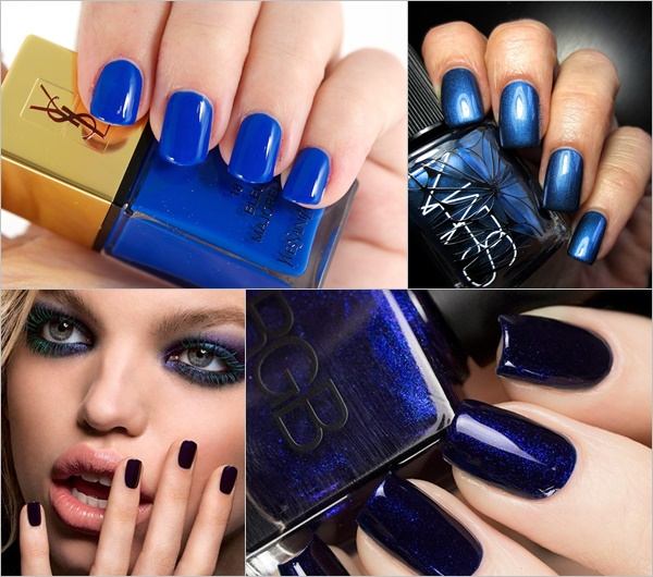 Spring Summer Nail Colors Trend - Blue Nautical