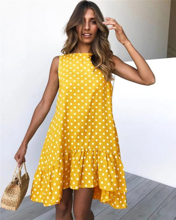 Street Sexy Casual Slim Thin Beach Party yellow (2)