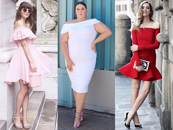 styles-for-off-shoulder-cocktail-dress-outfit-ideas