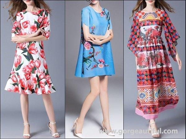 Multicolor Flounce Casual Floral-print Dress