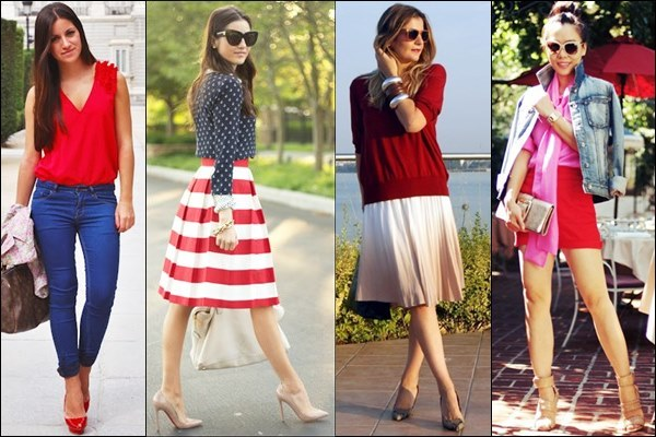 Valentine Day Outfit Ideas with Red