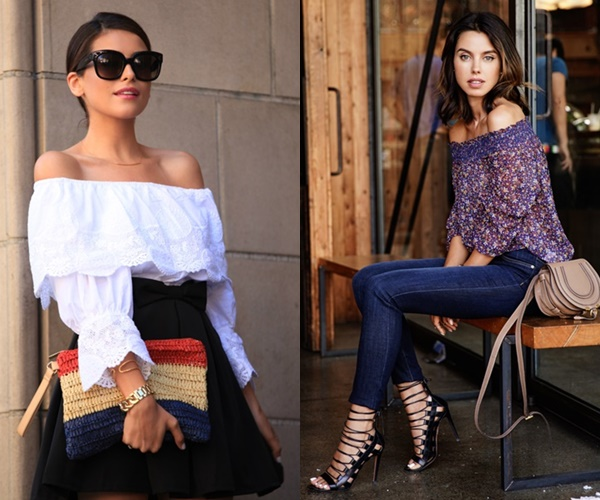 Ways to Wear Off-the-Shoulder Top for Spring and Summer