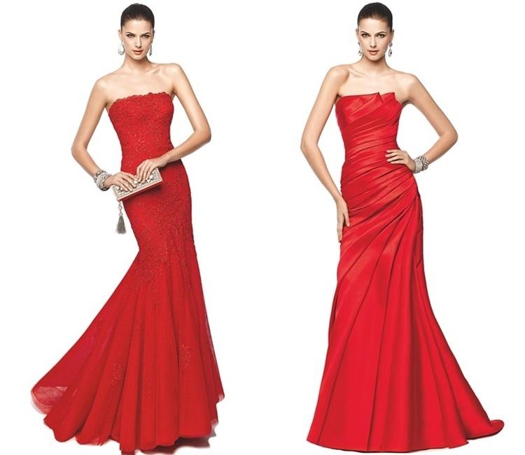 Pronovias red dresses