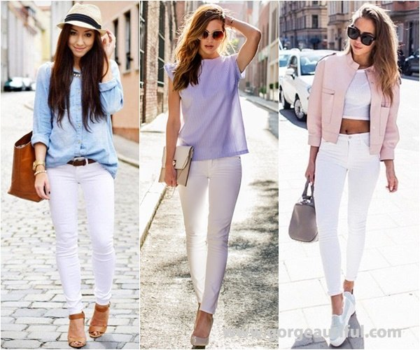 Pastel and White Color Create Soft and Romantic Look in Spring and Summer