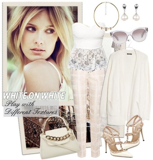 White on White Fashion Look