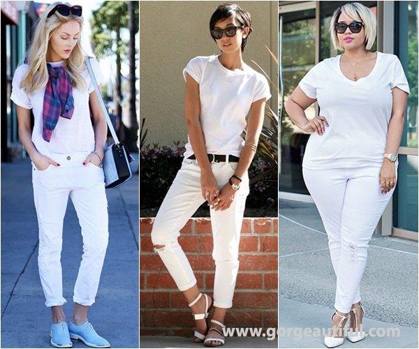 White on White Fashion Trend with White Skinny Jeans