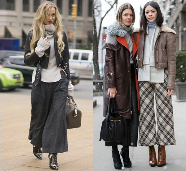 Winter Layering with Cropped Pants