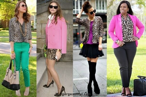 Leopard Print with Bright Color